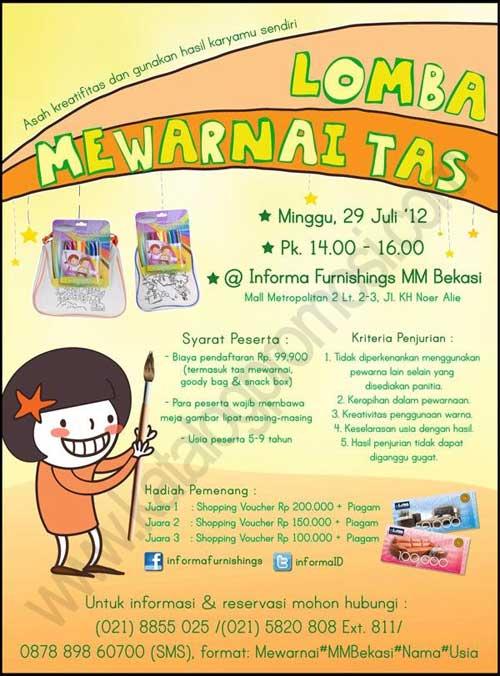 Lomba Mewarnai Tas Di Informa Furnishings Mall Metropolitan Bekasi