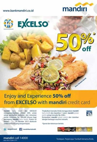 Diskon 50 Di Excelso Dengan Kartu Kredit Mandiri Discount And Promo Hunter