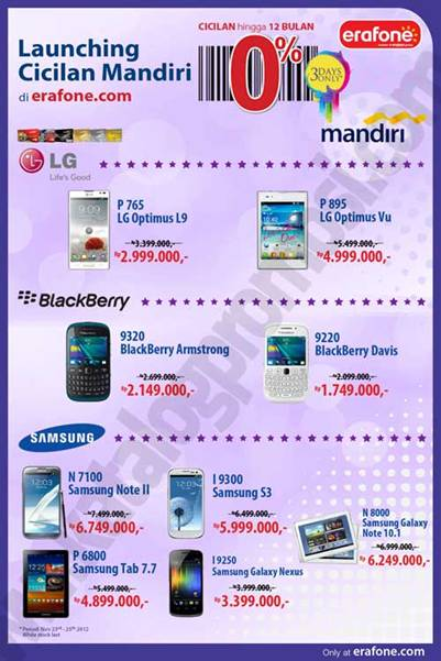 Promo Launching Cicilan Mandiri Di Erafone Com Discount And Promo Hunter