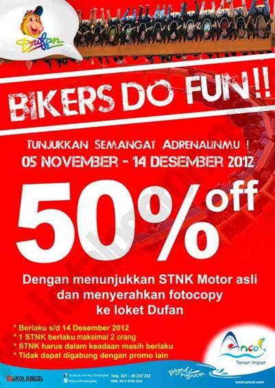 Bikers Do Fun Di Ancol Diskon Tiket Masuk Dufan 50 Dengan