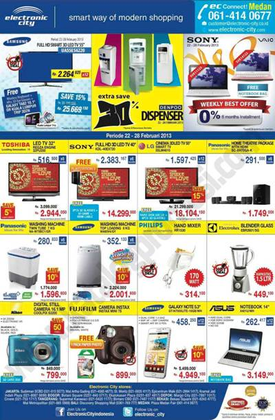 Katalog Belanja Dan Promosi Electronic City Medan Periode 22 28 Februari 2013 Discount And Promo Hunter