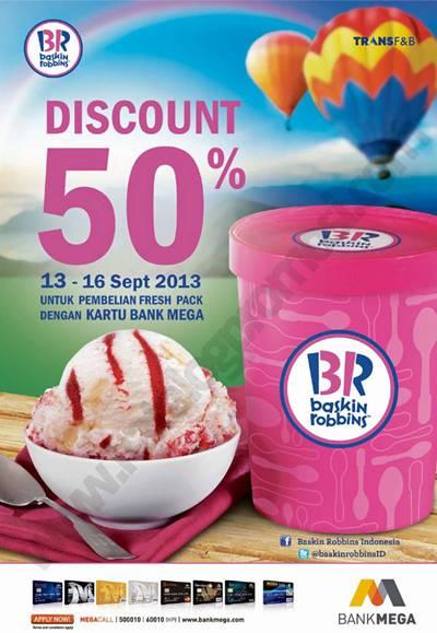 Baskin Robbins Diskon 50 Untuk Freshpack Dengan Kartu Kredit Mega Discount And Promo Hunter