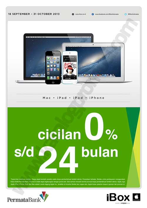 Ibox Promo Cicilan 0 S D 24 Bulan Untuk Iphone Ipod Mac Dan Ipad Dengan Kartu Kredit Permata Ban Discount And Promo Hunter