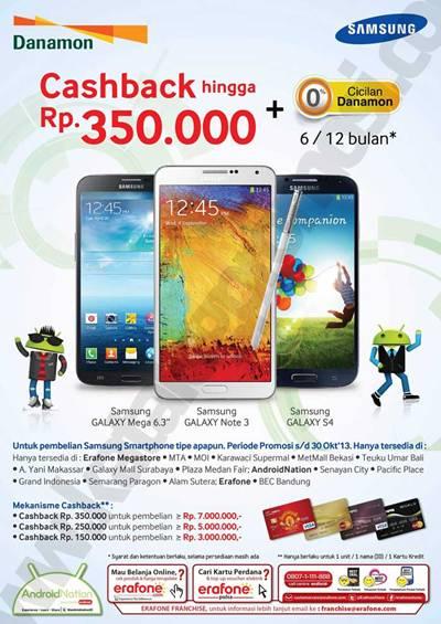 Erafone Promo Cashback Samsung Hingga Rp 350 000 Dengan Kartu Kredit Danamon Discount And Promo Hunter