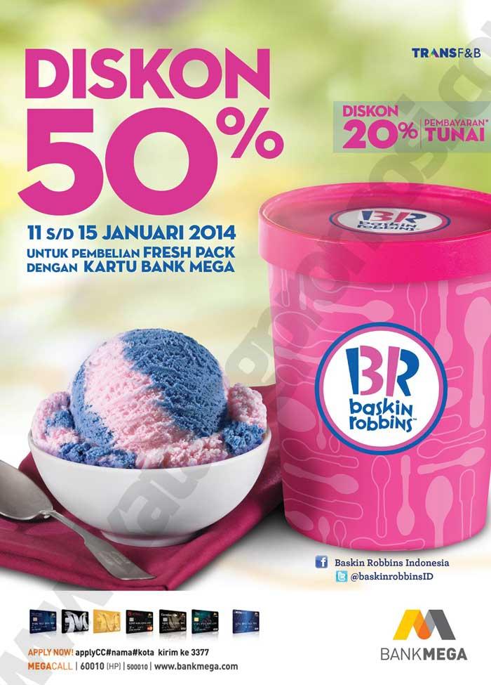 Baskin Robbins Diskon 50 Untuk Freshpack Dengan Kartu Bank Mega Discount And Promo Hunter