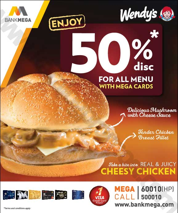 Wendy S Promo Diskon 50 Dengan Kartu Bank Mega Discount And Promo Hunter